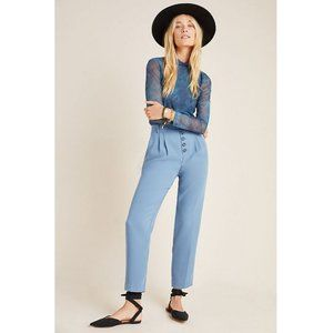 nwt anthropologie sasha button-fly tapered trouser